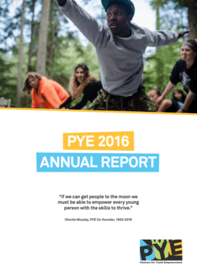 Cover of Partners for Youth's 2016 Annual Report